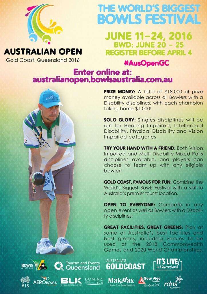 Australian Open Bowls Festival Sport Inclusion Australia